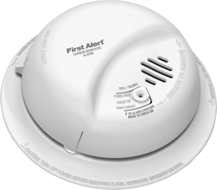 BRK SMOKE DETECTORS Hardwired carbon monoxide alarm with battery back-up meets codes where CO alarms are required for new construction.