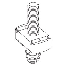 B-Line Series SN524-3/4ZN Stud Nut with Spring