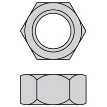 """Eaton hex nut, 1/4"""" thread size, Boxed, Yellow zinc, Hex nut"""