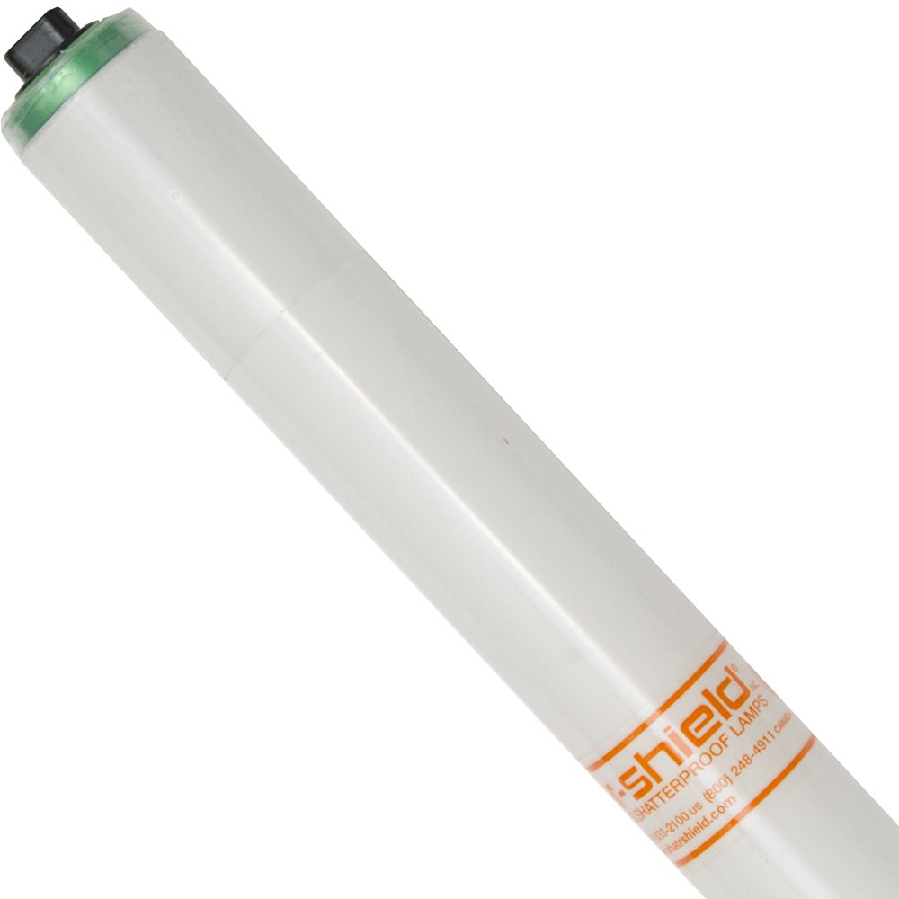 Shat-R-Shield 84562 96 Inch 110 W 62 CRI 4100 K 8800 Lumen Recessed Double Contact T12 Copolymer Coated Linear Fluorescent Lamp