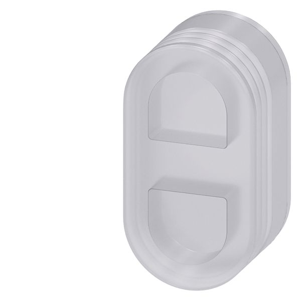 PROTECTIVE SILICONE CAP FOR FLAT TWIN PUSHBUTTON, CLEAR