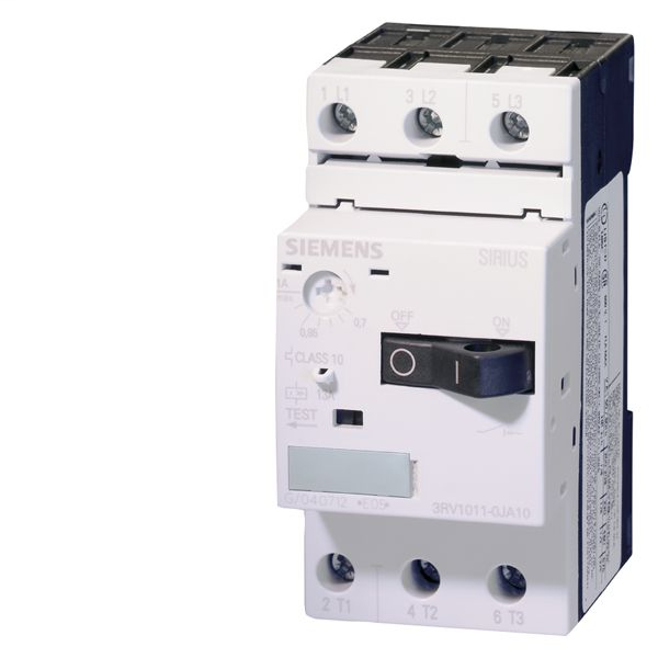Siemens Industry 3RV1011-1KA10 3-Pole 12 Amp 690 VAC 3-Phase Screw Terminal Thermal Magnetic Motor Starter Protector