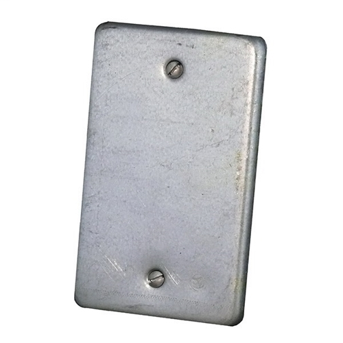 APPLETON Blank Box Cover, Material: Steel, Finish: Zinc Electroplate, Mounting: Box, For Use With Unilets FS And FD Single Gang And Tandem Cast Hub Device Boxes