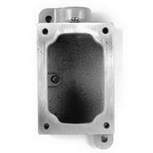 EDS 1-Gang Dead-End Cast Device Mounting Box, Number Of Outlet: 1, Material: Malleable Iron, Size: 1 IN, Cable Entry: (1) 1 IN Hub, Knockouts: No, Height: 6.81 IN, Width: 3-1/2 IN, Finish: Triple-Coat (Zinc Electroplate, Chromate And Epoxy Powder Coat), F redirect to product page