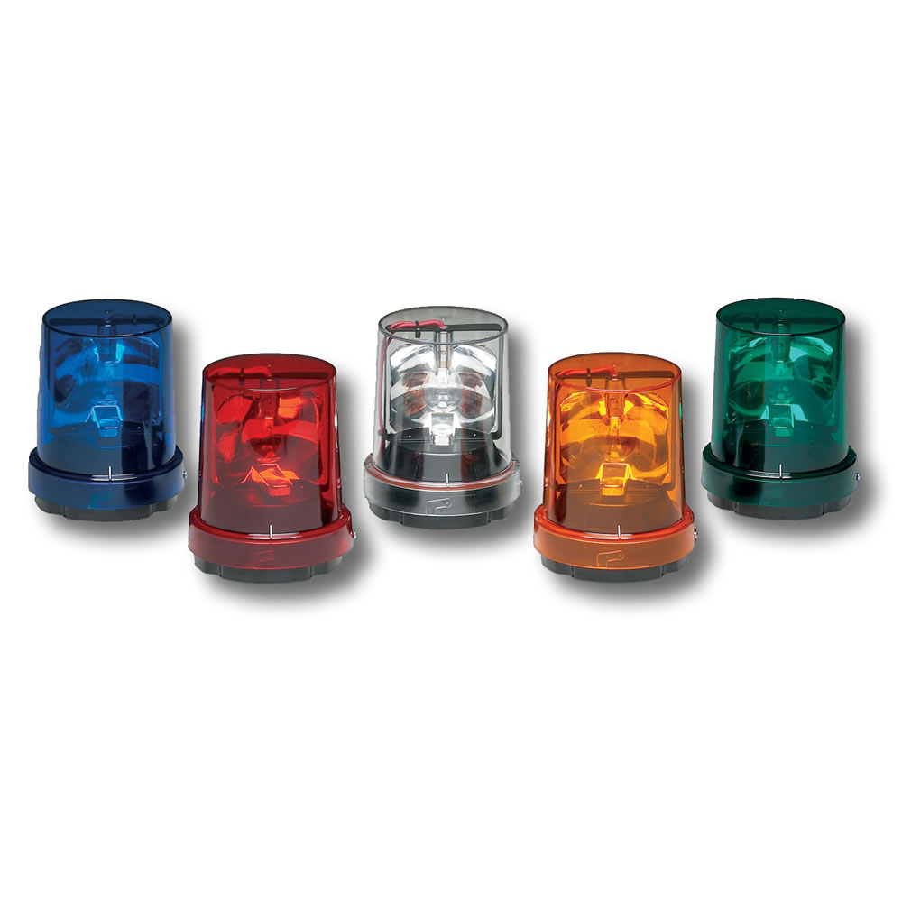 Federal Signal 121S-120A 120 VAC 0.36 Amp 40 W Amber Incandescent Rotating Warning Light
