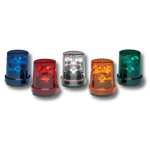 FED-SIG 121S-120R ROTATING LIGHT 120VAC SURFACE OR PIPE MOUNT RED
