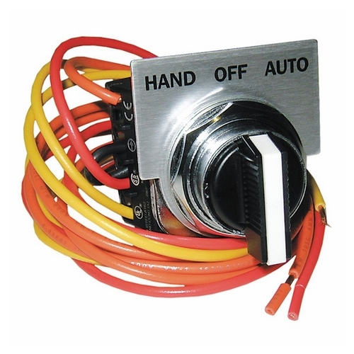 Siemens 49SAS01 30MM Hand-Off-Auto Selector Switch For Class 14 NEMA1 Size 5 And Larger Class 17 And 18 All Sizes 3R 12And 4X (AC Option) *A3*