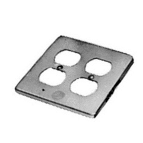 APPLETON 1-Gang Box Cover, Material: Steel, Finish: Zinc Electroplate, Number Of Outlet: (4) Duplex Flush Receptacle, Mounting: Box, For Use With Duplex Flush Receptacles