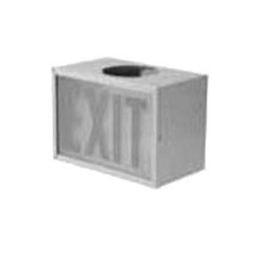 Single-Sided Exit Sign, Letter Color: Red, Legend: EXIT, Material: Epoxy Enameled Steel, Dimensions: 11-3/4 IN Length X 6.88 IN Width X 8.50 IN Height, For ELS Series Emergency Lighting System