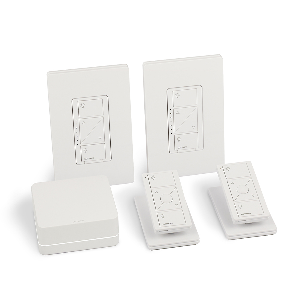 LUT P-BDG-PKG2W SMART BRIDGE DIMMER KIT WITH PICO CONTROLS FOR IN-WALL AND CEILING LIGHTS