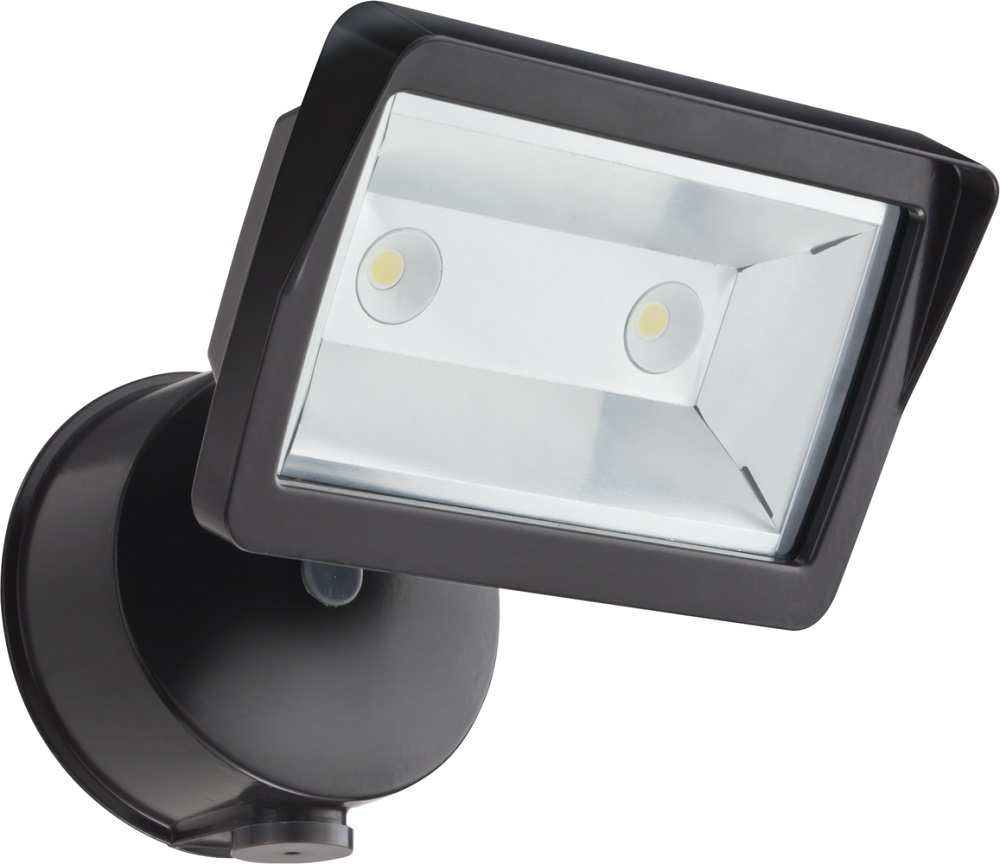 LITH OLFL14PEBZM4 SMALL OUTDOOR LED SECURITY FLOODLIGHT 120V WITH PHOTOCELL IN BRONZE FINISH