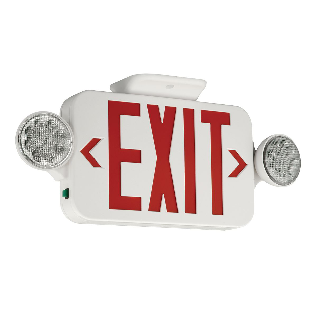 COMP CCR LED EXIT EBU 2 HEAD COMBO SIGN