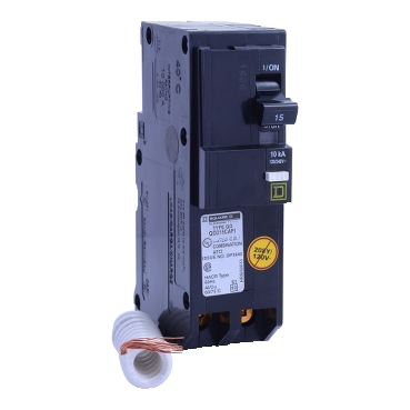 SQD QO215CAFI 2P 15A 120/240V PLUG-ON ARC-D-TECT CIRCUIT BREAKER