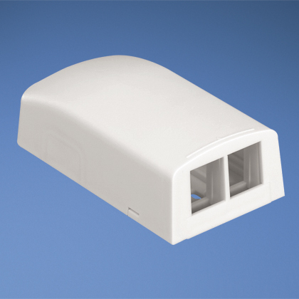 PAND NK2BXWH-A NK 2-PORT SURFACE MOUNT BOX WHITE