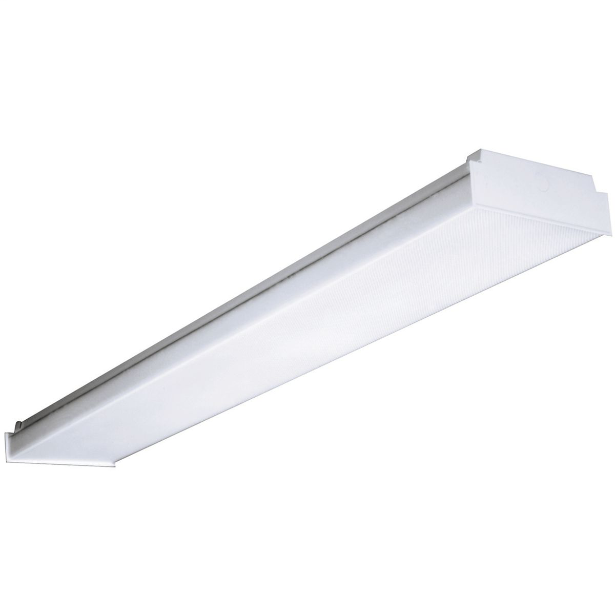 Columbia AWW4-432-4EU 4 Foot (4) F32T8 Wrap Around Fixture 120-277V Universal Voltage Electronic (Less Than 10% THD) Ballast Low Profile (w/o Lamps)
