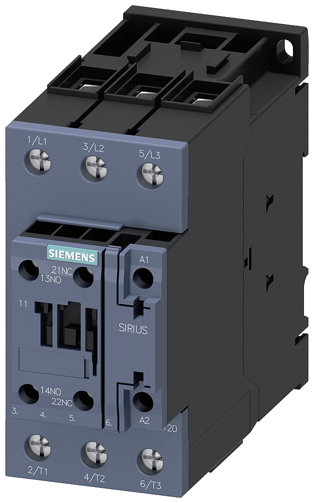 SIEM 3RT20351AK60 CONTACTOR S2 40A 120VAC SCREW 1NO/1NC