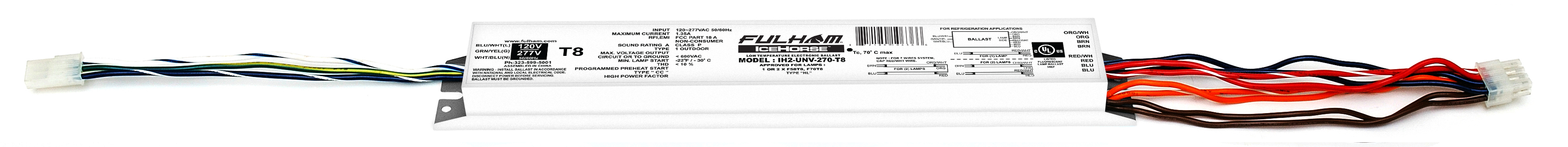 Fulham,IH2-UNV-270-T8,1 OR 2XF70T8 OR F58T8