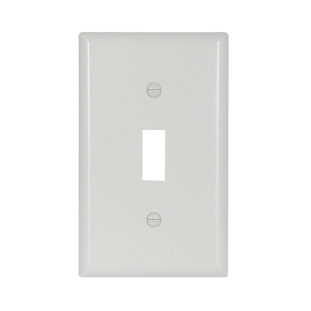 Cooper Wiring Devices,2134W-BOX,WALLPLATE 1G TOGGLE THERMOSET STD IV
