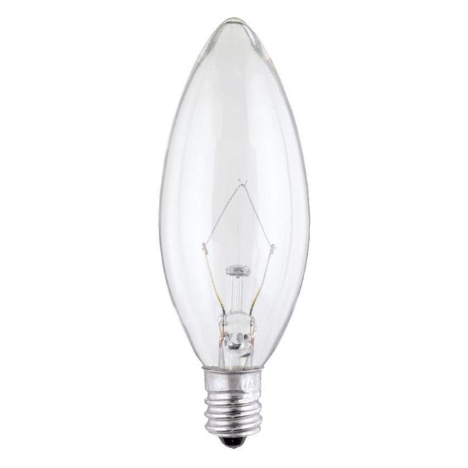 Westinghouse Lighting,0368200,25 Watt B9 1/2 Torpedo Incandescen 03682