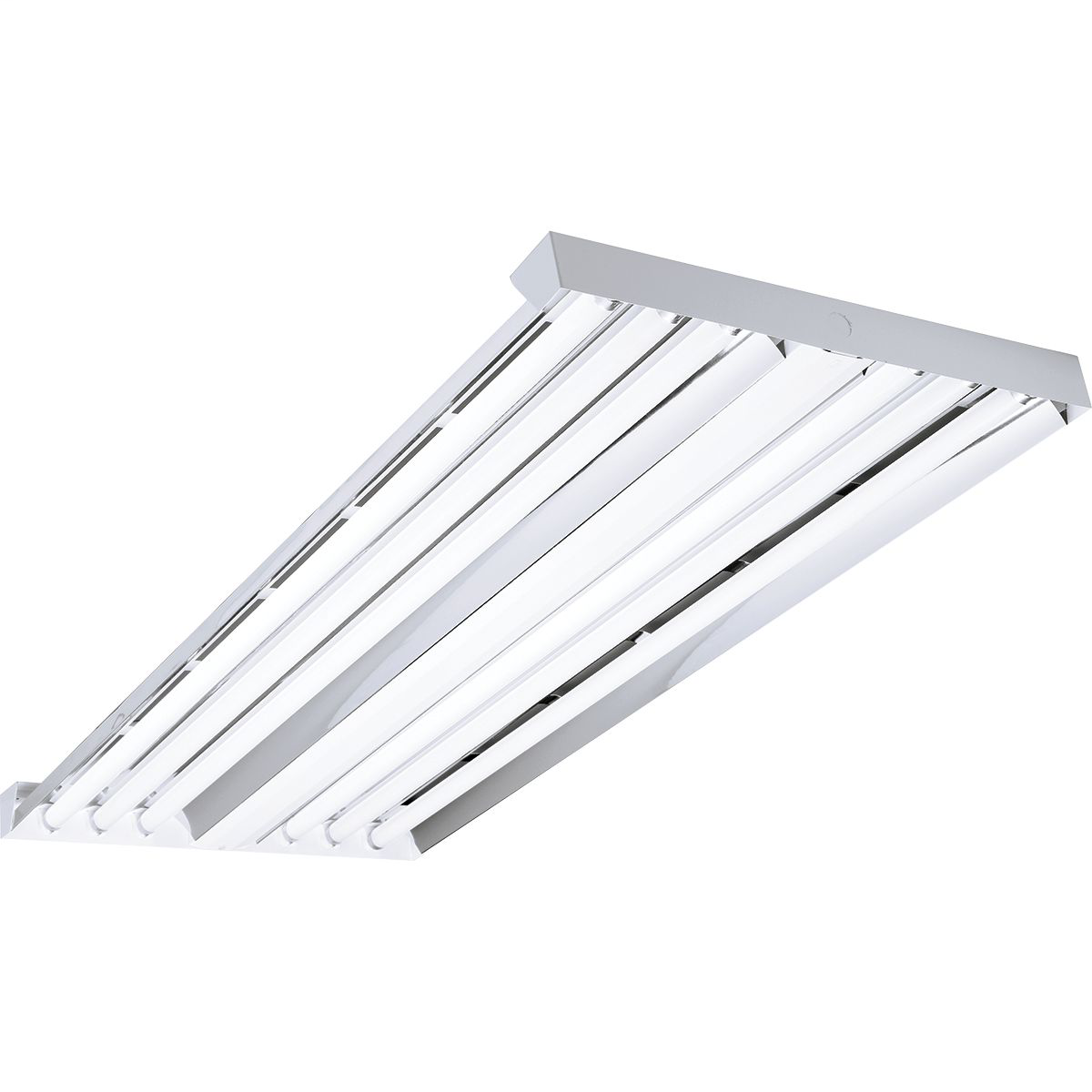 Columbia LHA4-654-NU-24EPU (6) Lamp FP54T5HO High Output High Bay Fixture w/ Narrow Uplight & 120-277 Volt Universal Voltage Electronic T5 Ballast Fluorescent (w/o Lamps)