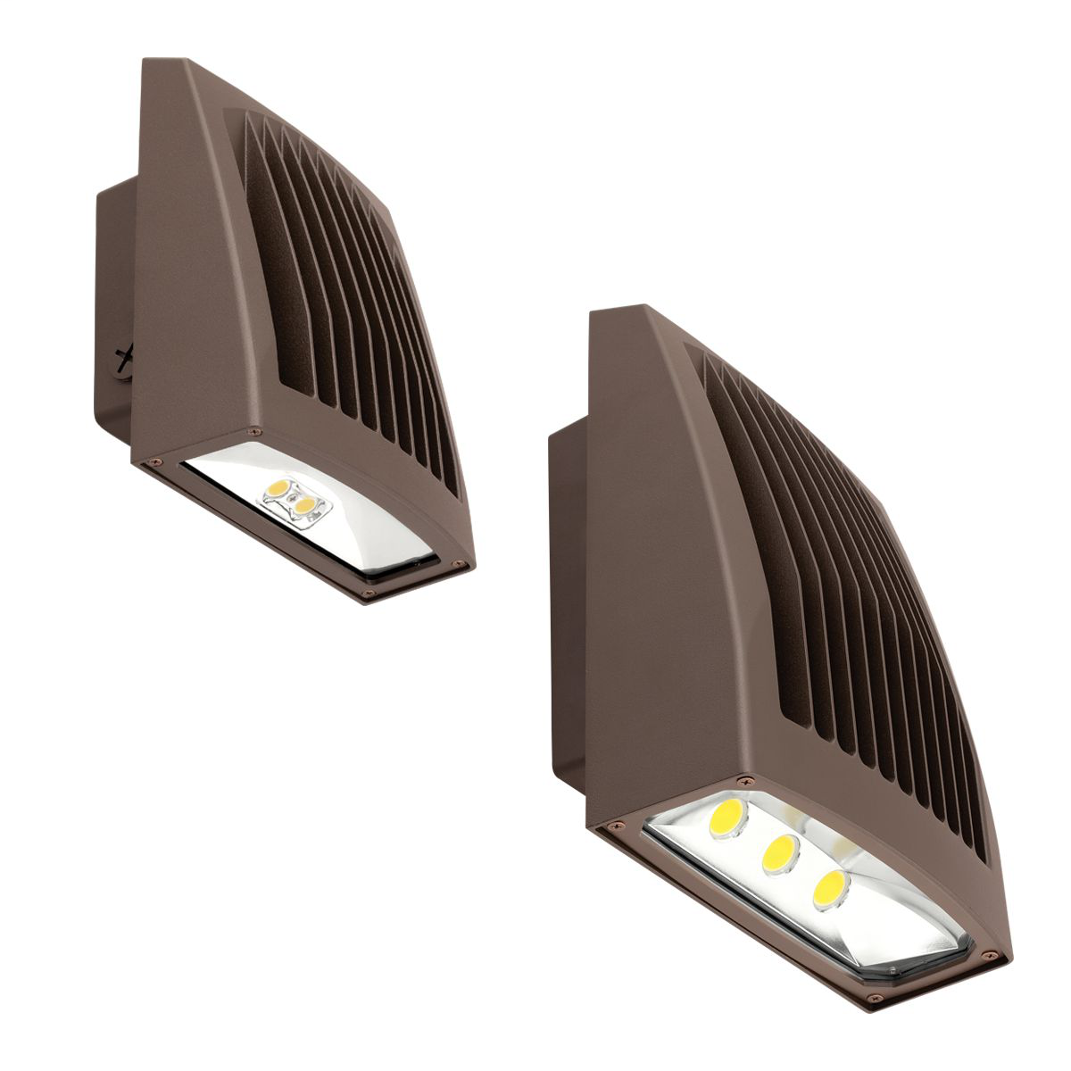 HUBBELL LIGHTING OUTDOOR,SG2-80-4K-PCU,WALL PACK LED 80W 4K BRONZE PC