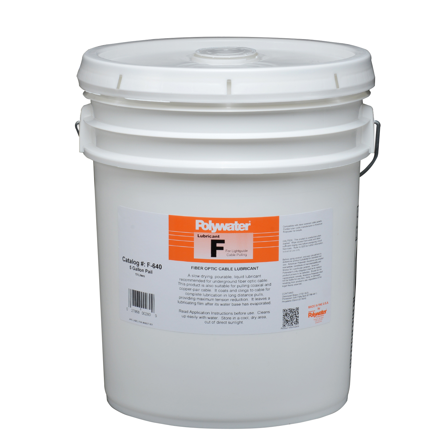American Polywater,F-640,5-Gal Polywater® Lubricant F
