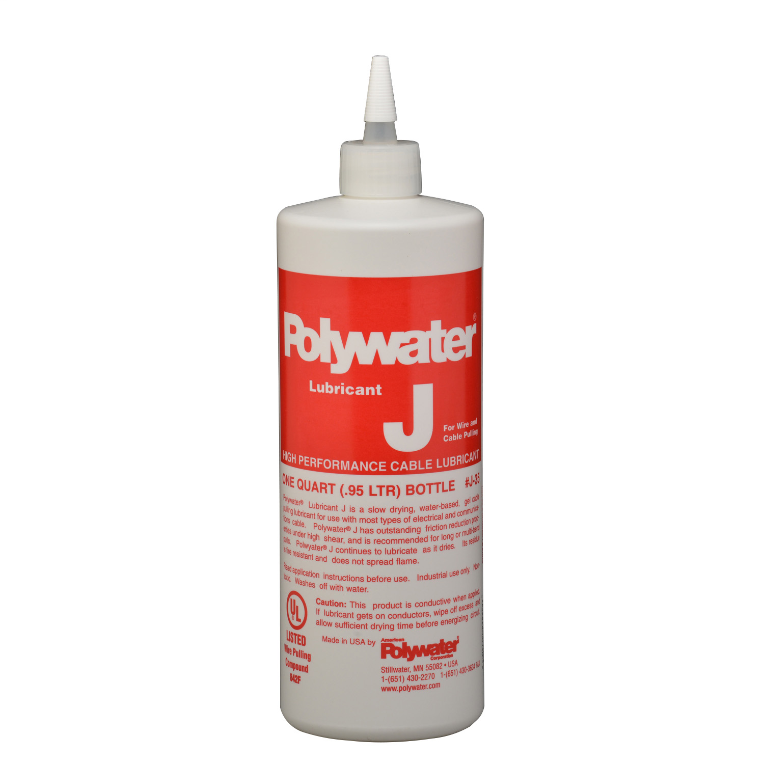 American Polywater,J-35,Qt Sqz Bottle Polywater® Lubricant J