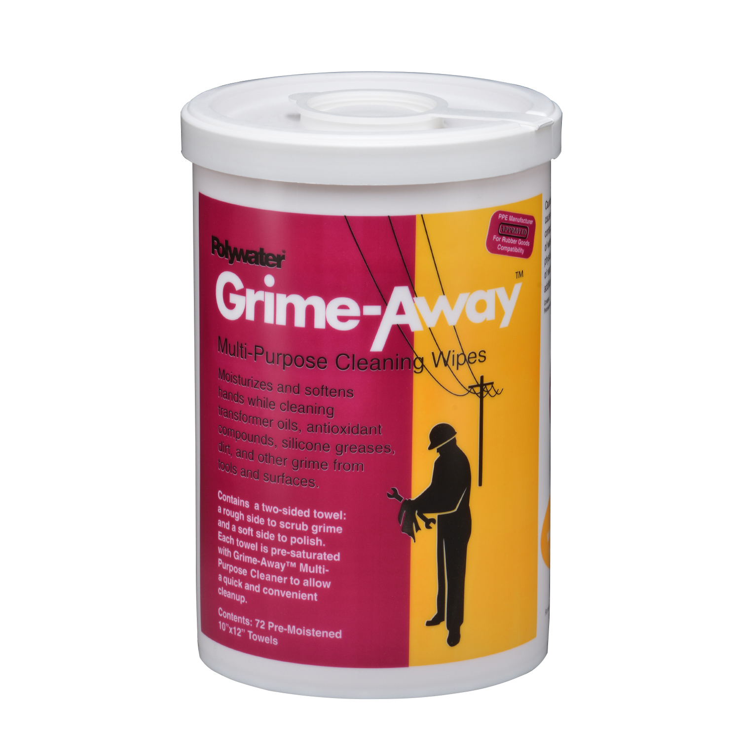 American Polywater,HTC-D72,72-Count Grime-Away™ Wipe Canister