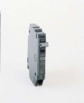 THQP breakers are a smaller, smarter solution for today's cost- and quality-conscious contractors and homeowners. Half the width of standard breakers, they allow use of smaller load centers and for maximum savings of space and money. GE is the only manufacturer that gives you this cost advantage without sacrificing flexibility. THQP breakers are one-half the width of standard GE breakers but identical in design. They are available from 15 to 50 amps and in single and two pole construction. P130 Amps 30 A