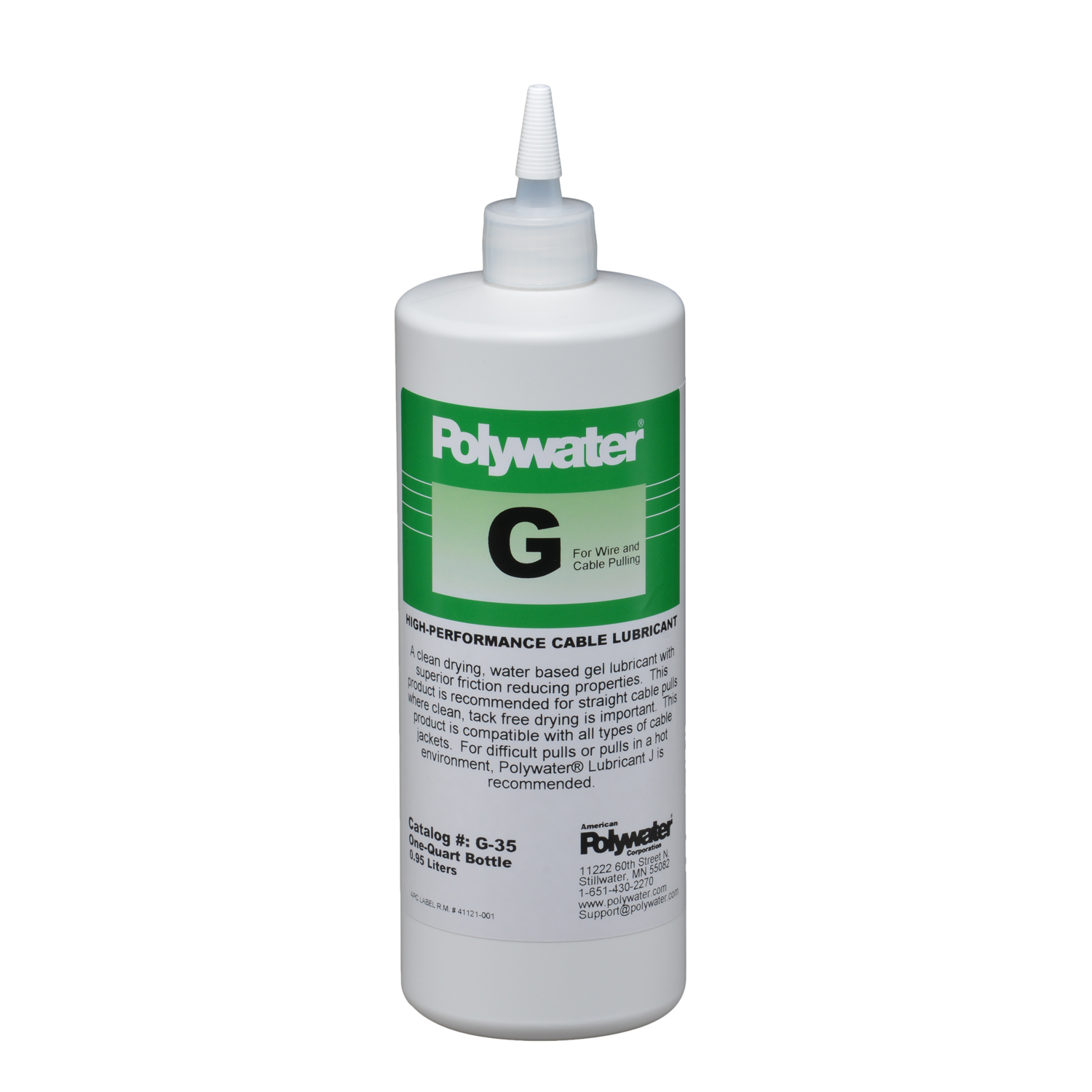 American Polywater,G-35,Qt Sqz Bottle Polywater® Lubricant G