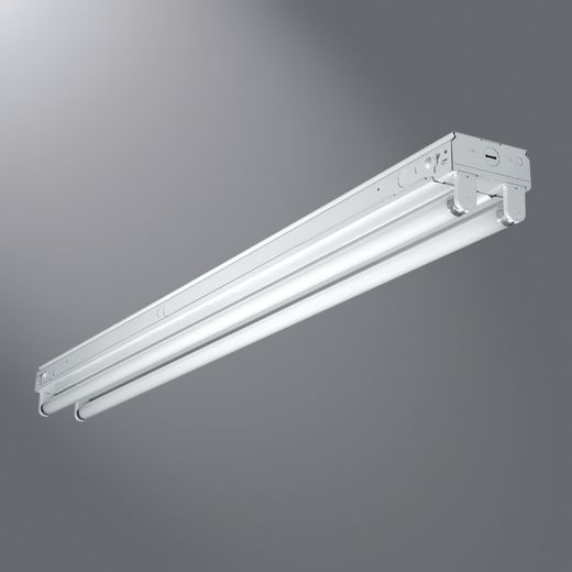 2 Lamp, 4' Standard  Strip, 120-277V CEE Listed Electronic Ballast, T8, Flip-up Sockets