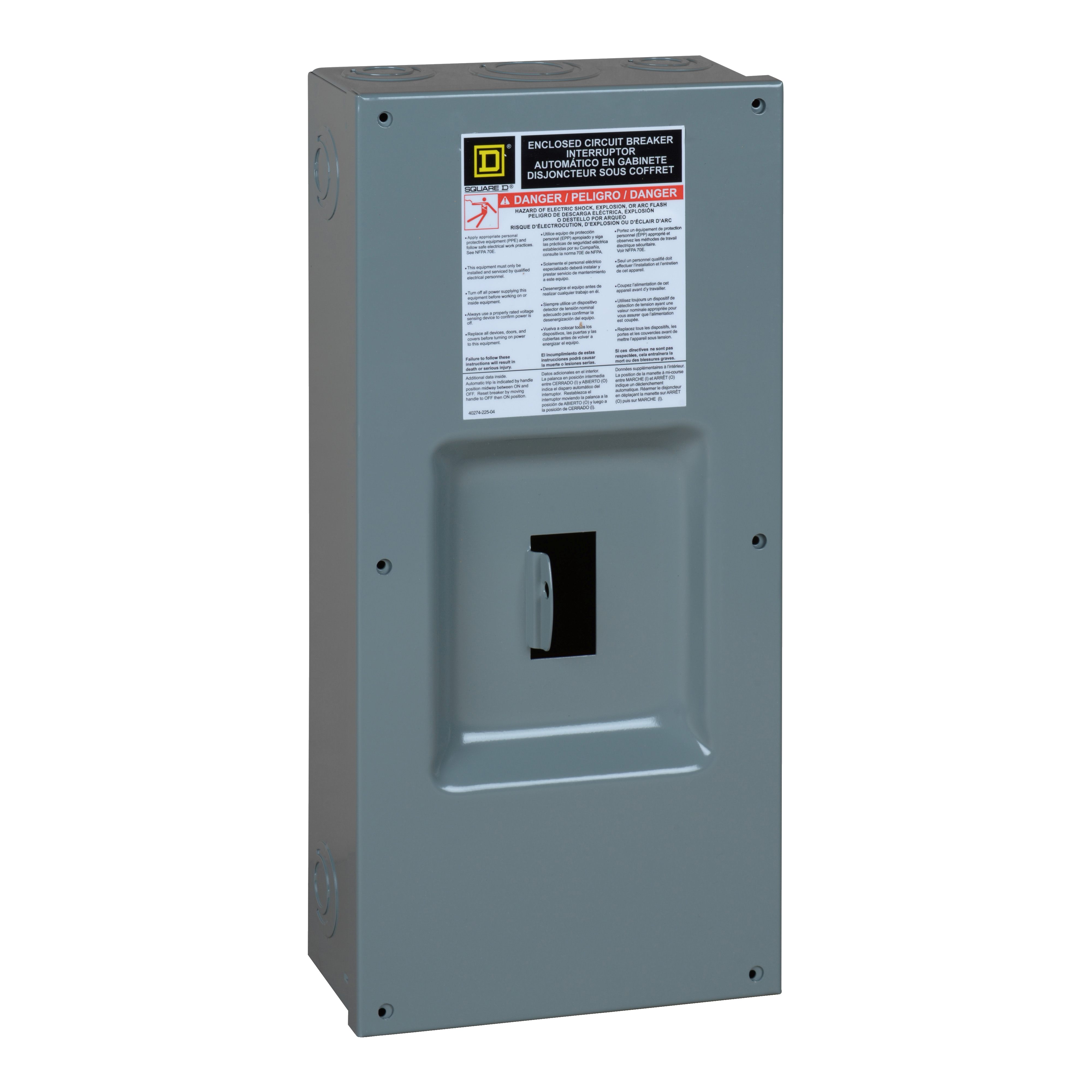 SQD FA100S ENCLOSURE FOR CIRCUIT BREAKER NEMA1