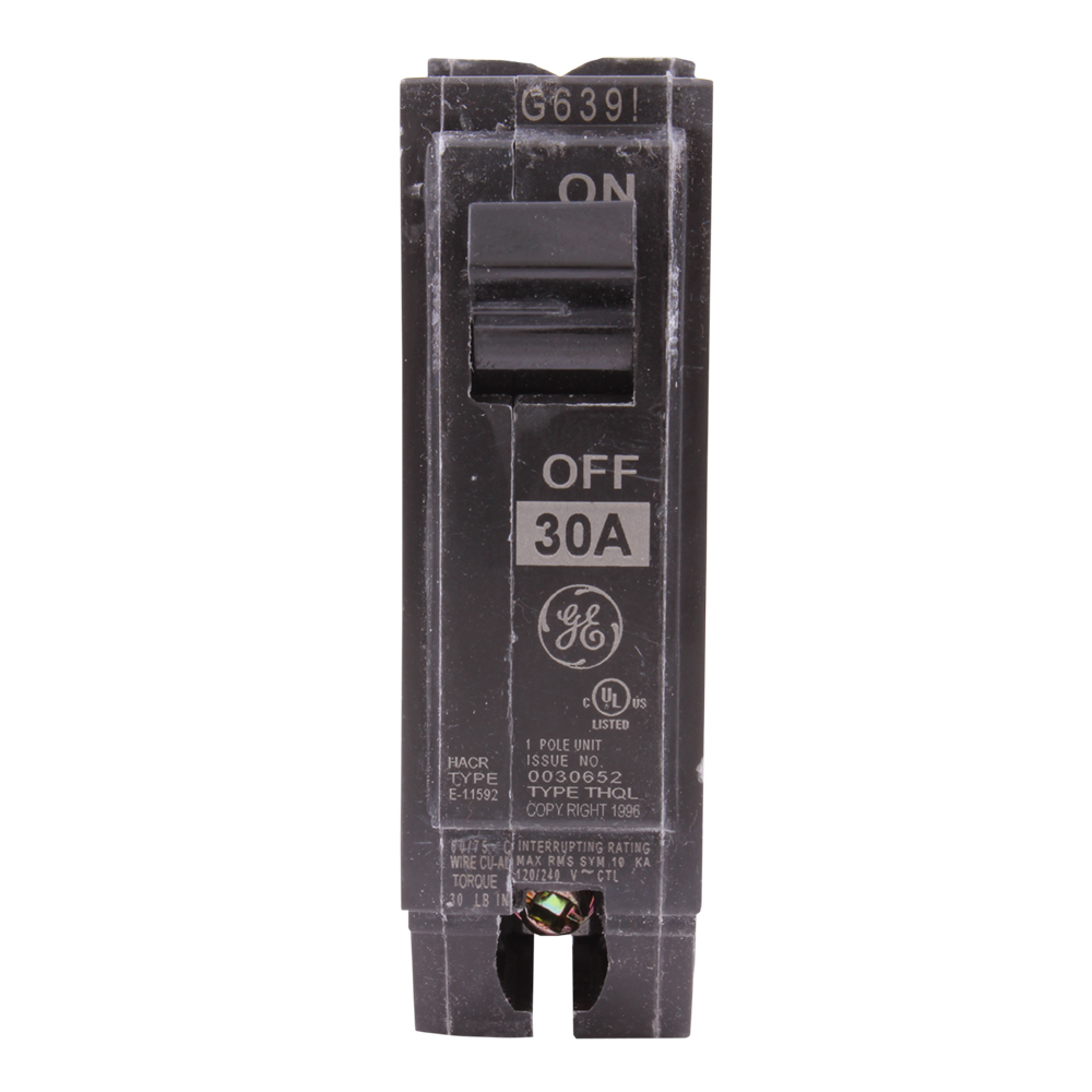 Q line circuit breakers are one-inch wide per pole, compact, thermal-magnetic devices designed for residential and commercial applications. The QL breakers are plug-in versions of the Q Line used for connection to load centers and lighting panels. All Q Line circuit breakers feature Quick-make / Quick-break mechanisms, common trip bars, and easy to spot trip indication to ensure safety and reliability. Q Line breakers are available in 1, 2, and 3 pole versions, can be ordered with auxiliary contact and shunt trip accessories, and can be ordered for use in HID applications. 1130 Amps 30 A 11302873