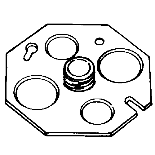 APPOZGCOMM,OCP-3/8,4 IN OCT BACK PLATE W/STUD