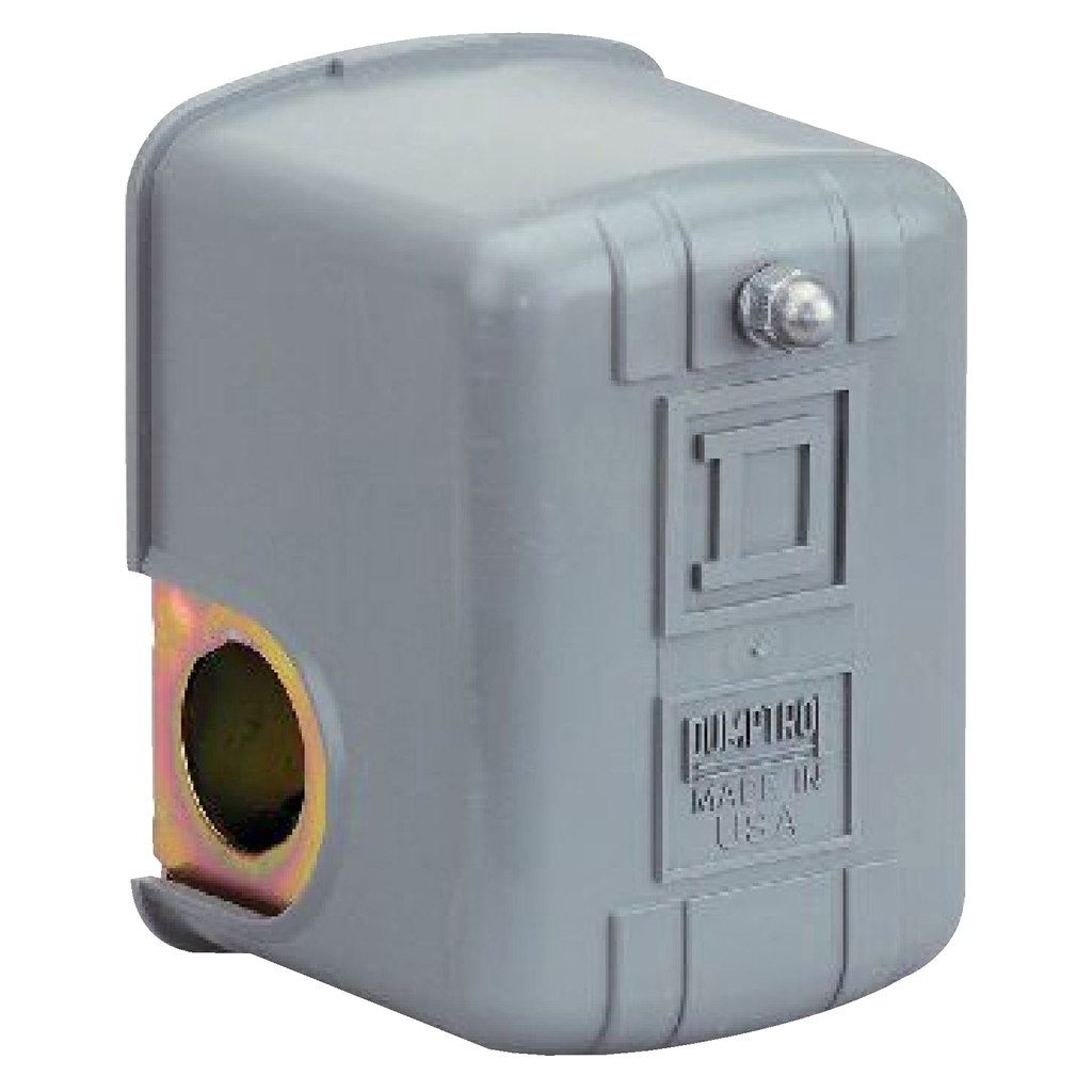 Water pump switch, 9013FSG, adjustable differential, 30 to 50 psi, 1 HP
