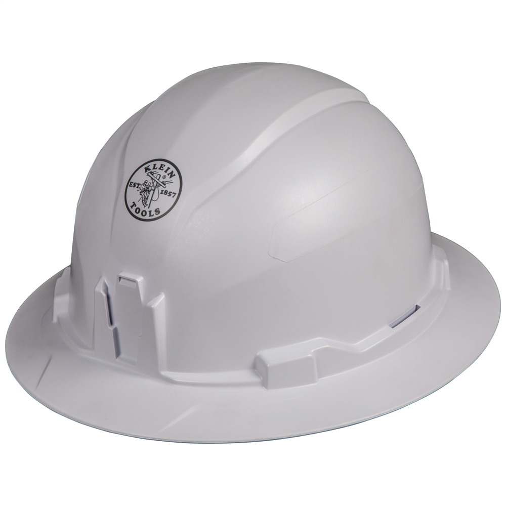 Hard Hat, Non-vented, Full Brim Style, Tested up to 20kV, this Class E, Type 1 hard hat meets ANSI Z89.1-2014, CSA Z94.1-15 EN397:2012+A1:2012-Lateral Deformation (LD) standards