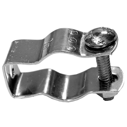 Features:2.16IN Length X 1.1IN Width X 0.75IN Depth, With Carriage Bolt, For Rigid/IMC/EMT/PVC Conduit, Standard:UL, CSA, Size:0.75IN, Number Of Holes:1, Material:Steel, Finish:Zinc Plated
