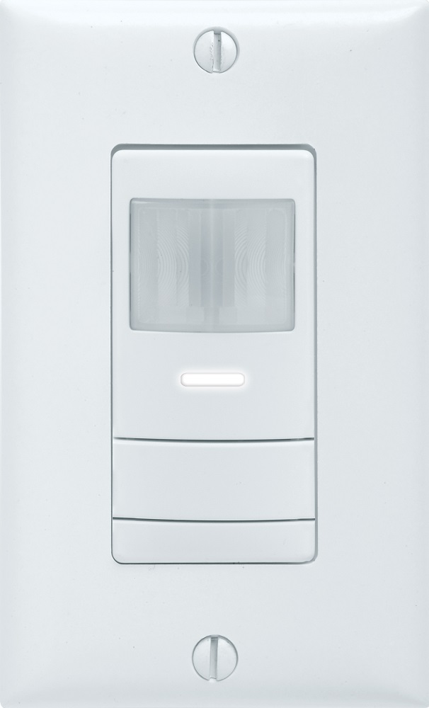 Wall switch decorator sensor with convertible neutral/no neutral wiring, White, SKU - 216RF4