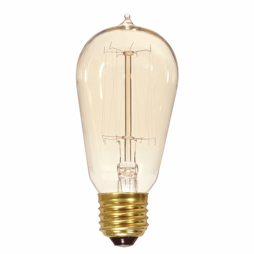 60 watt ST19 Incandescent; Clear; 3000 Average rated hours; 240 lumens; Medium base; 120 volts