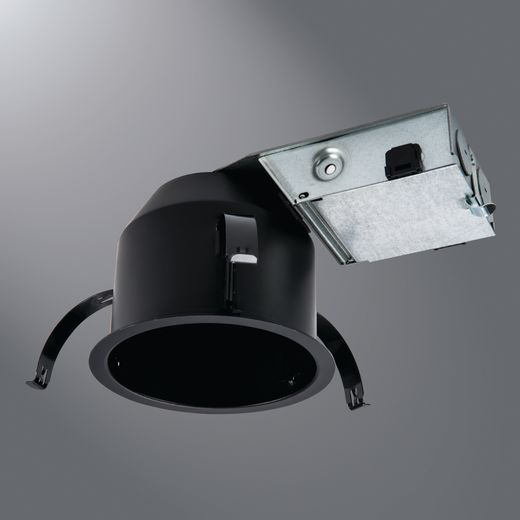Halo H245ICAT Ultra-Shallow New Construction Downlight Housing, LED Lamp, 120/277 V, 4-1/2 in Ceiling Opening, Aluminum Housing