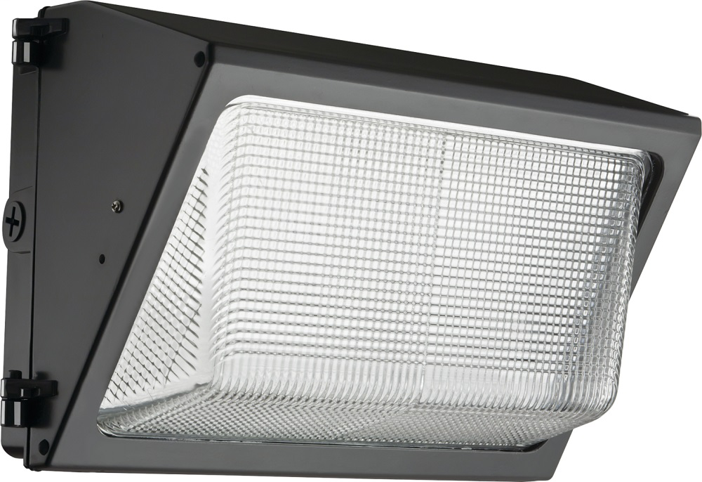 Small glass refractor wall pack, LED, Package 2, 5000K , 120-277V, Textured dark bronze, super durable, SKU - 261M5R