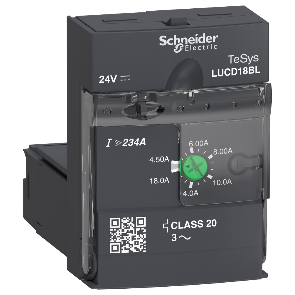 Advanced control unit LUCD - class 20 - 4.5...18 A - 24 V DC