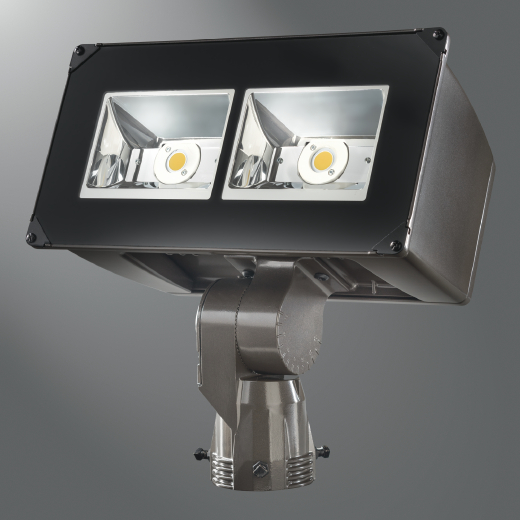 LUM NFFLD-C40-S LED FLOODLIGHT 129W 4000K 120-277V SLIPFITTER BRONZE