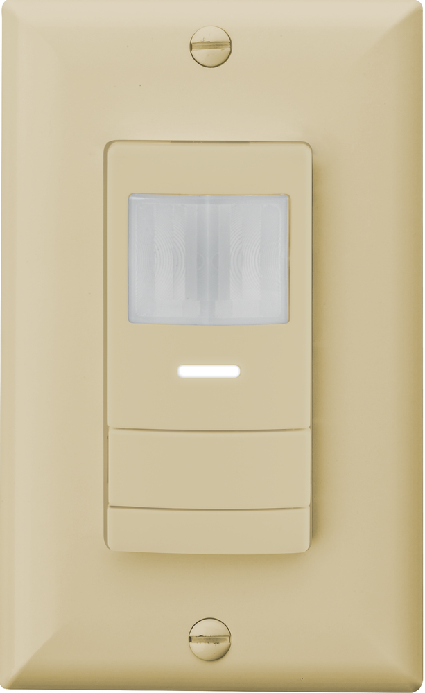 Wall switch decorator sensor with convertible neutral/no neutral wiring, Ivory, SKU - 218Y8U