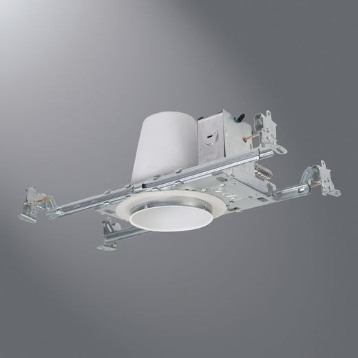 Halo AIR-TITE® H99TAT New Construction Shallow Recessed Lighting Housing, Incandescent Lamp, Non-IC Insulation, 120 VAC, 4-3/8 in Ceiling Opening, Steel Housing