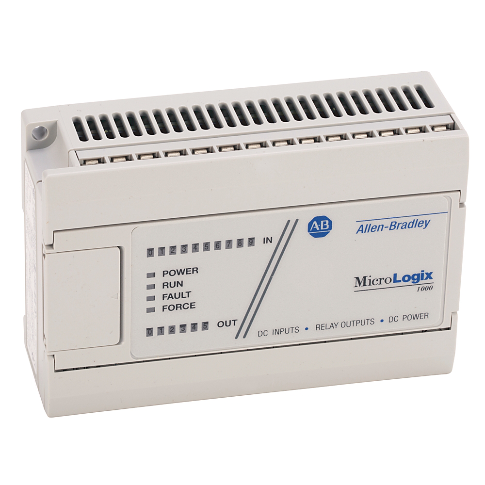 A-B 1761-L16BWB 16 I/O MICROLOGIX 1000: (10) 24VDC IN (6) RELAY OUTPUT DC LINE