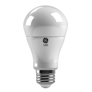 GE LED Lamps, 10 WTT, 800 LM, 3000K, Dimmable, A19, Medium Screw Base, 4.4 IN Length, 15000 HR Average Life