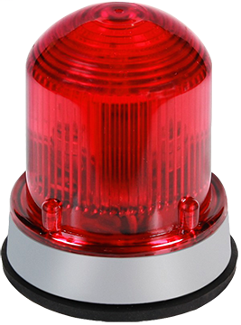 125XBR Class XTRA-BRITE LED dual-mode beacons in a NEMA Type 4X enclosure.  Panel or conduit mounting.  Protective wire guard available, Cat. No. 125GRD.  Ships in steady-on mode and has a built-in option of switching to flashing mode (65 fpm) through an additional wire connection.