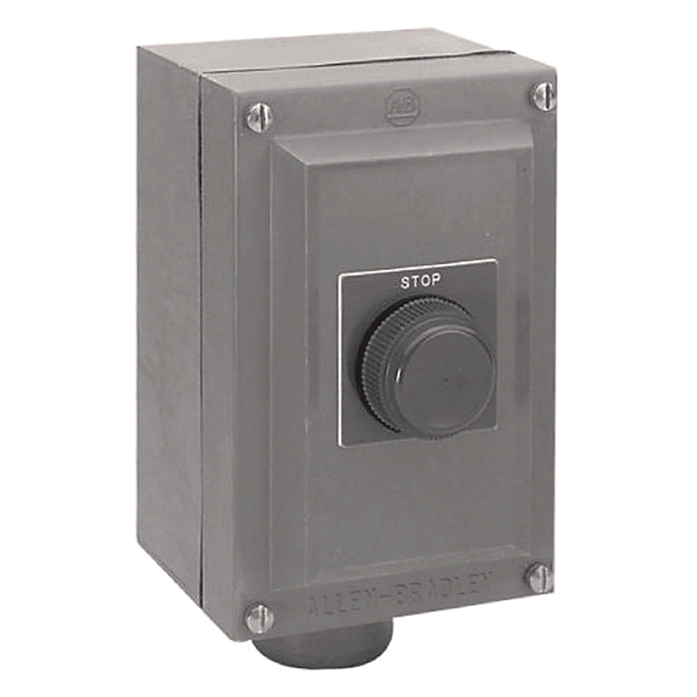 A-B 800H-1HA4R 1STOP PUSH BUTTON BOOTED WITH NEMA 4 ENCLOSURE
