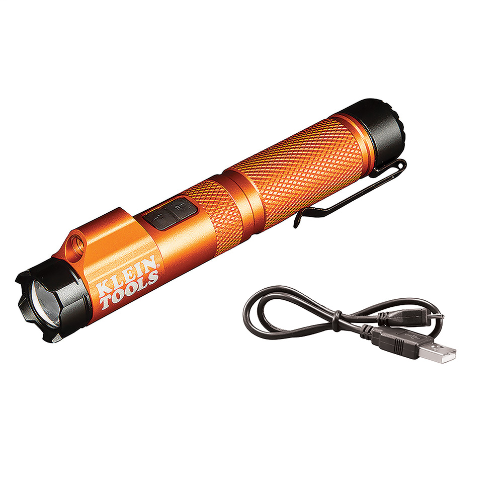 KLEIN 56040 RECHARGEABLE FOCUS FLASHLIGHT WITH LASER